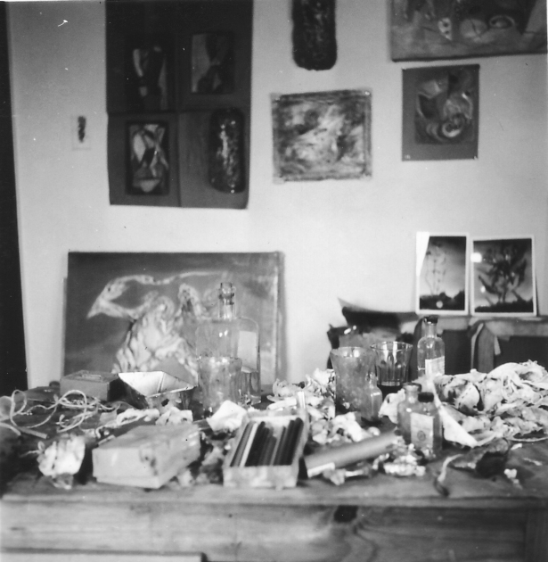 Paalen´s studio in Paris, ca. 1938