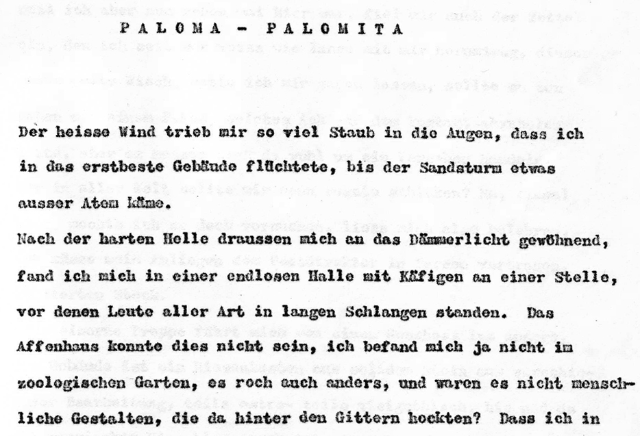 Paloma Palomita Auschnitt