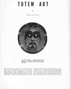Totem Art article, DYN 4-5 Amerindian Number 1943