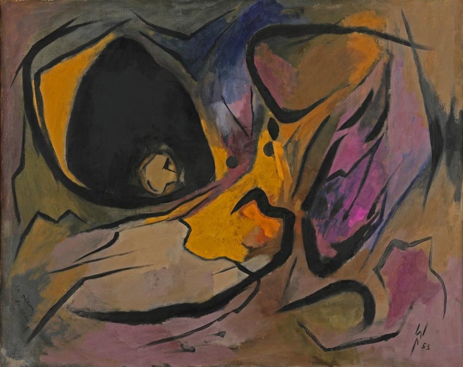 Wolfgang Paalen, La pierre lancée, 1953