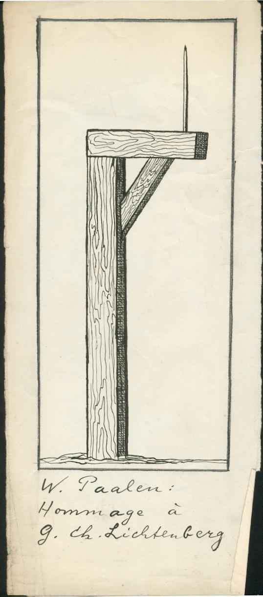 Wolfgang paalen, Scetch for Hommage to Lichtenberg 1937
